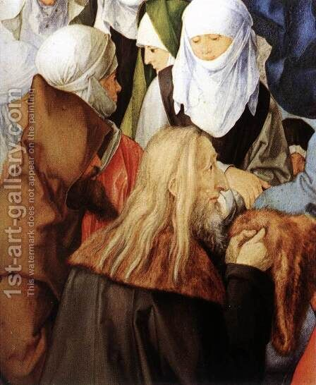 The Adoration of the Trinity (detail 2) by Albrecht Durer - Reproduction Oil Painting