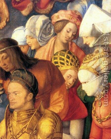 The Adoration of the Trinity (detail 4) by Albrecht Durer - Reproduction Oil Painting