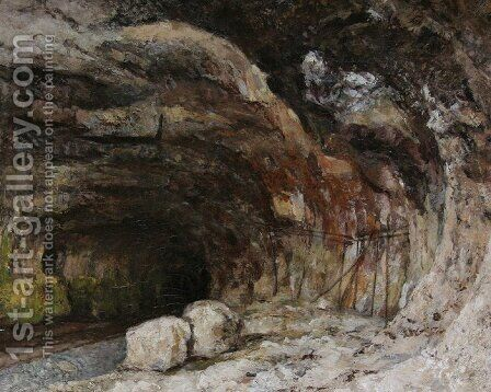 The Grotto of Sarrazine near Nans-sous-Sainte-Anne by Gustave Courbet - Reproduction Oil Painting