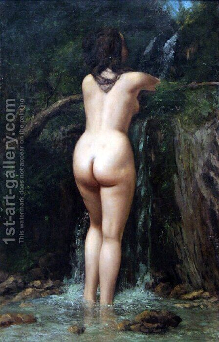 The Source by Gustave Courbet - Reproduction Oil Painting