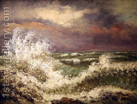 The Wave 4 by Gustave Courbet - Reproduction Oil Painting