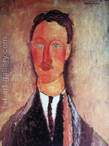 Leopold Survage by Amedeo Modigliani - Reproduction Oil Painting