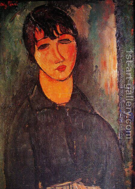 The Maid by Amedeo Modigliani - Reproduction Oil Painting