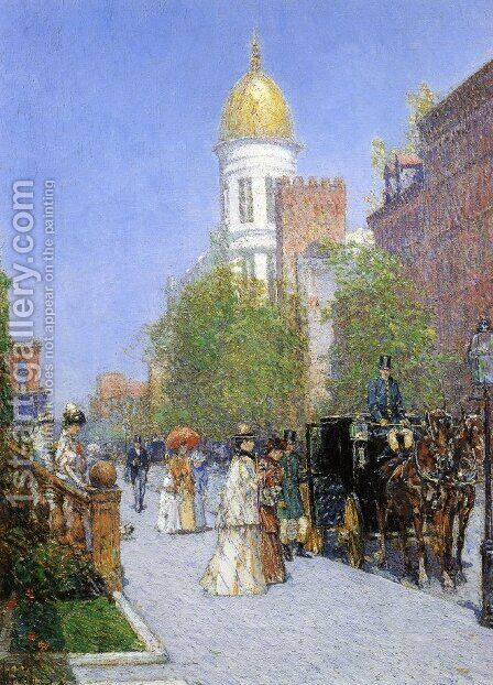 A Spring Morning by Childe Hassam - Reproduction Oil Painting