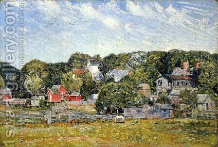 Amagansett, Long Island, New York by Childe Hassam - Reproduction Oil Painting