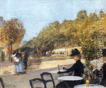 At the Cafe by Childe Hassam - Reproduction Oil Painting
