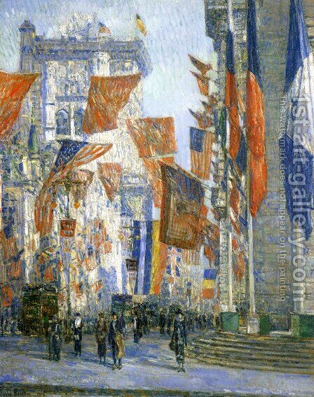 Avenue of the Allies by Childe Hassam - Reproduction Oil Painting
