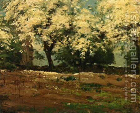 Blossoms by Childe Hassam - Reproduction Oil Painting