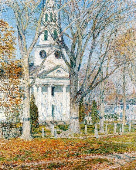 Church at Old Lyme by Childe Hassam - Reproduction Oil Painting