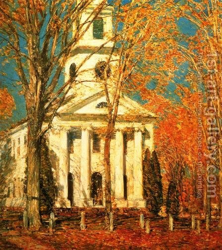 Church at Old Lyme 2 by Childe Hassam - Reproduction Oil Painting