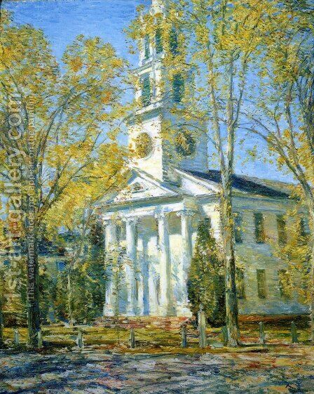 Church at Old Lyme 3 by Childe Hassam - Reproduction Oil Painting