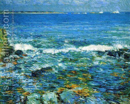 Duck Island from Appledore by Childe Hassam - Reproduction Oil Painting