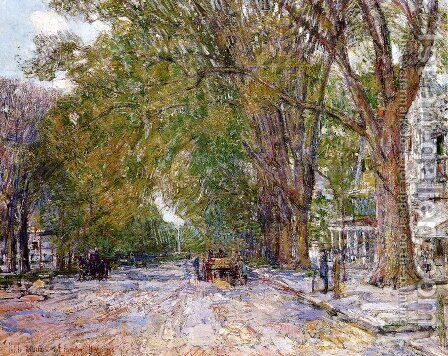 Elms, East Hampton, New York by Childe Hassam - Reproduction Oil Painting