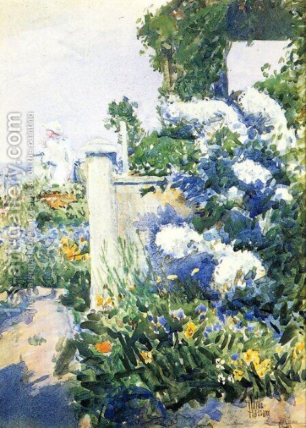 Garden by the Sea, Isles of Shoals by Childe Hassam - Reproduction Oil Painting