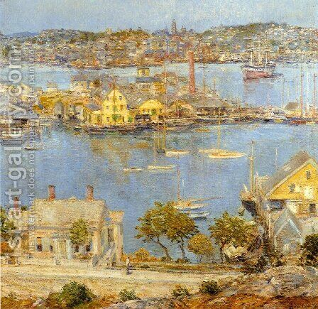 Gloucester Harbor by Childe Hassam - Reproduction Oil Painting