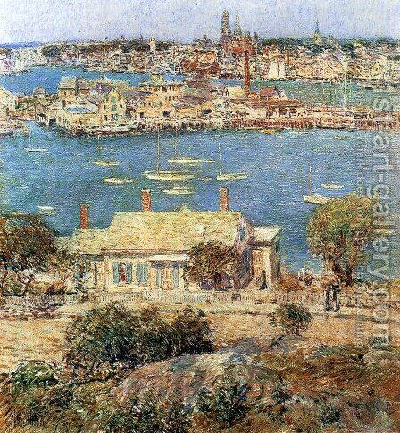 Gloucester Harbor 2 by Childe Hassam - Reproduction Oil Painting