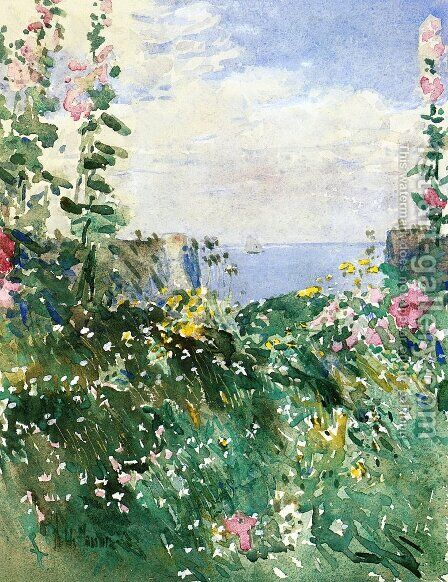 Isles of Shoals Garden, Appledore by Childe Hassam - Reproduction Oil Painting