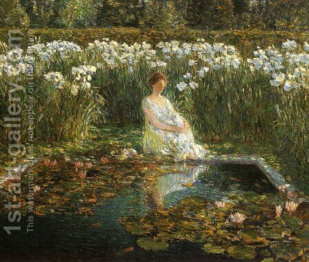 Lilies by Childe Hassam - Reproduction Oil Painting
