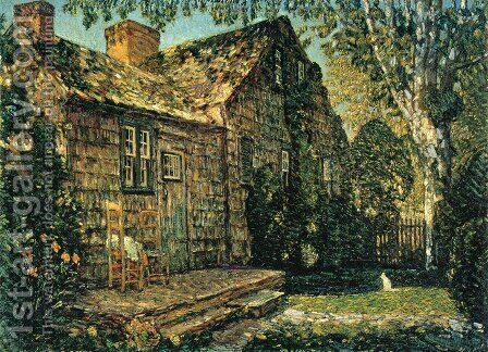 Little Old Cottage, Egypt Lane, East Hampton by Childe Hassam - Reproduction Oil Painting