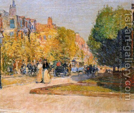Marlborough Street, Boston by Childe Hassam - Reproduction Oil Painting