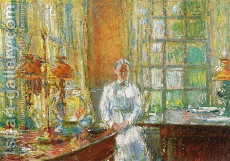 Mrs. Holley of Cos Cob, Connecticut by Childe Hassam - Reproduction Oil Painting