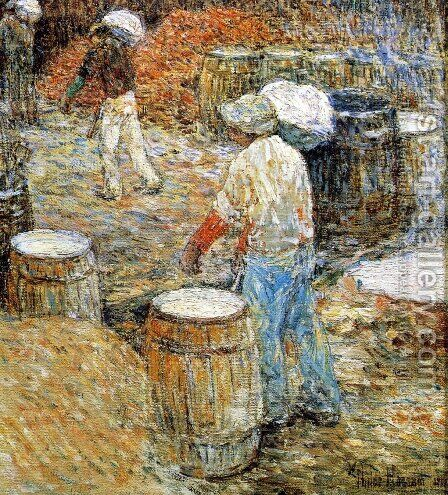 New York Hod Carriers by Childe Hassam - Reproduction Oil Painting