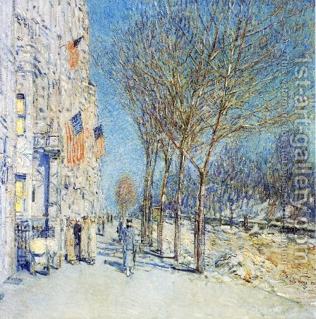 New York Landscape by Childe Hassam - Reproduction Oil Painting