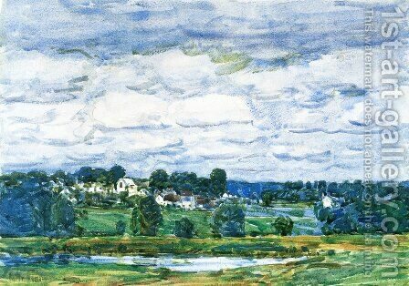 Newfields, New Hampshire by Childe Hassam - Reproduction Oil Painting
