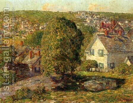Outskirts of East Gloucester by Childe Hassam - Reproduction Oil Painting