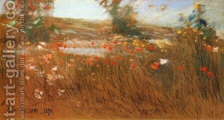 Poppies, Isles of Shoals 3 by Childe Hassam - Reproduction Oil Painting