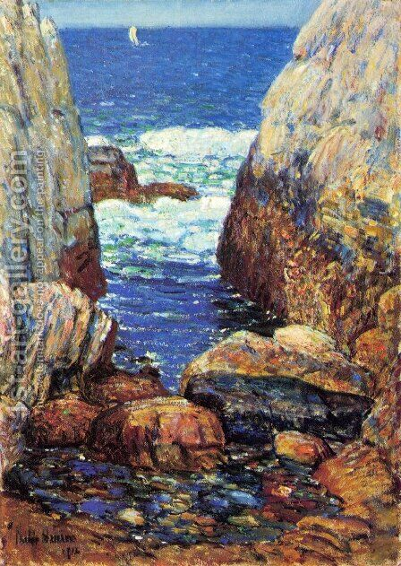 Sea and Rocks, Appledore, Isles of Shoals by Childe Hassam - Reproduction Oil Painting