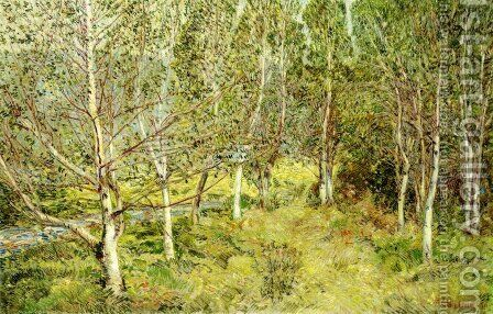 Spring Woods by Childe Hassam - Reproduction Oil Painting