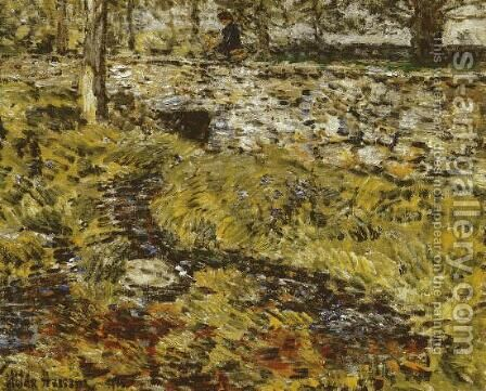 Stone Bridge by Childe Hassam - Reproduction Oil Painting