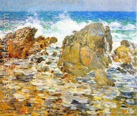 Surf, Appledore by Childe Hassam - Reproduction Oil Painting