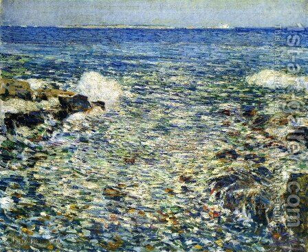 Surf, Isles of Shoals by Childe Hassam - Reproduction Oil Painting