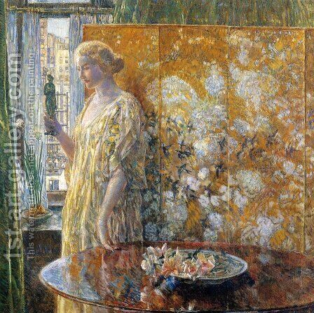 Tanagra, The Builders, New York by Childe Hassam - Reproduction Oil Painting