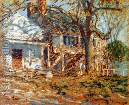 The Brush House by Childe Hassam - Reproduction Oil Painting