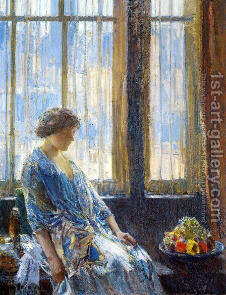 The New York Window by Childe Hassam - Reproduction Oil Painting