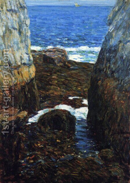 The North Gorge, Appledore, Isles of Shoals by Childe Hassam - Reproduction Oil Painting