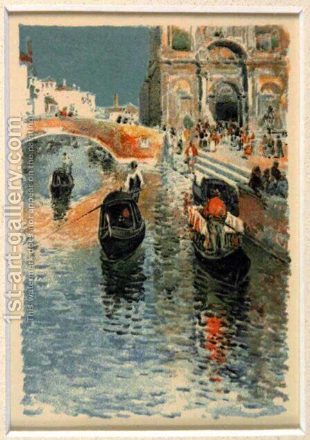 Twilight Venice by Childe Hassam - Reproduction Oil Painting