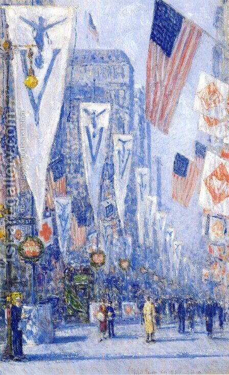 Victory Day, May 1919 by Childe Hassam - Reproduction Oil Painting