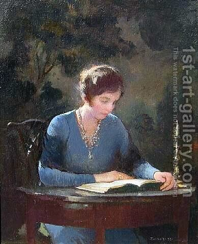 Mary Reading 2 by Edmund Charles Tarbell - Reproduction Oil Painting