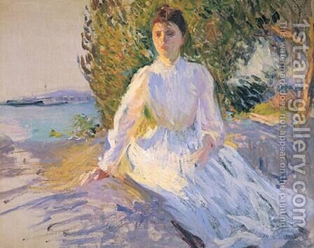 Mrs. Tarbell, Sketch at Evening by Edmund Charles Tarbell - Reproduction Oil Painting