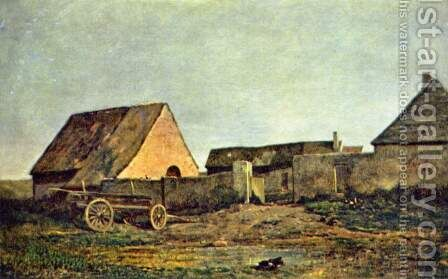 The Farm by Charles-Francois Daubigny - Reproduction Oil Painting