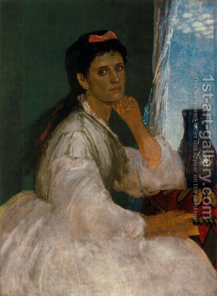 Portrait of Clara Böcklin by Arnold Böcklin - Reproduction Oil Painting
