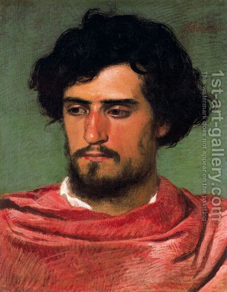 Portrait of a young Roman by Arnold Böcklin - Reproduction Oil Painting