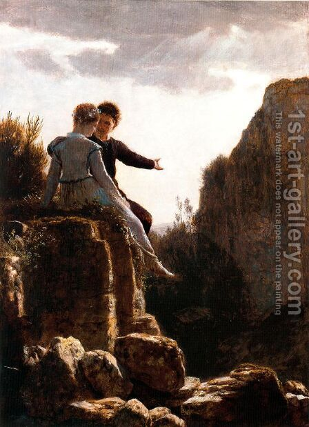 The Honey Moon by Arnold Böcklin - Reproduction Oil Painting