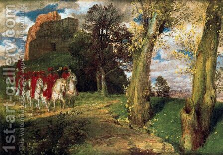 The Moors Cavaliers by Arnold Böcklin - Reproduction Oil Painting