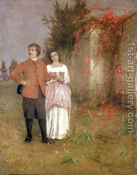 The artist and his wife by Arnold Böcklin - Reproduction Oil Painting