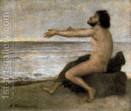 Ulysses by the sea by Arnold Böcklin - Reproduction Oil Painting